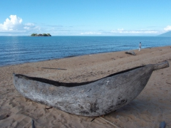 A mokoro is a popular mode of transport on Lake Malawi