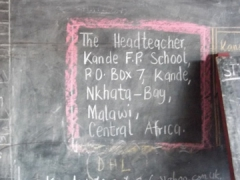Address for the Kande School to send donations or volunteer for volunteer teaching opportunities
