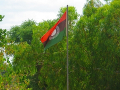 View of the Malawian flag