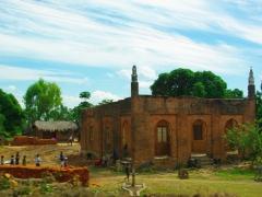 A brick mosque near Lake Malawi