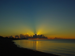 A beautiful sunrise over Lake Malawi