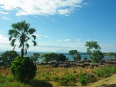 Lake Malawi stretches 500 KM down the country's eastern border, and villages such as this one dot the waterfront