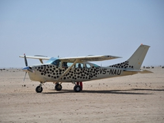 Our compact skydiving plane; Swakopmund