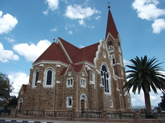 The circa 1910 gingerbread style church of Christuskirche; Windhoek