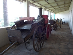 Outdated modes of transportation on display at the Alte Feste; Windhoek