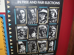 A Namibian voting poster at the museum in the Alte Feste; Windhoek