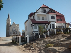 Luderitz is a scenic beach side town full of Germanic style architecture