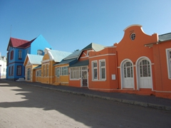 Colorful houses in quaint Luderitz