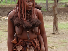 Portrait of a Himba lady; Ohungumure Village