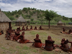 The Himba tribe of the village of Ohungumure
