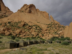 A posh campground site in Spitzkoppe