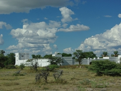 This fort was originally used in the Boer wars. Today, it houses the Namutoni campsite gift shop; Etosha