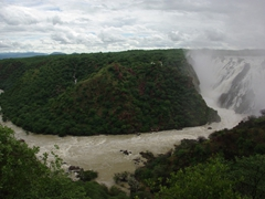 View of Ruacana Falls from afar