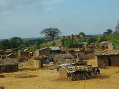 A typical view of a traditional Mozambique village
