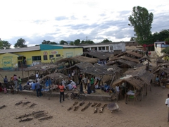 A market scene in the Mozambique countryside