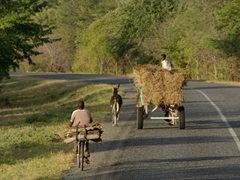A picturesque road scene in easy going Mozambique