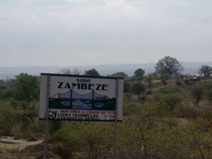 We are about to approach a massive bridge spanning the Zambezi River (photos of the bridge are strictly forbidden)