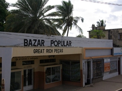 Portuguese dominates many of the signposts in Mozambique, a former colony