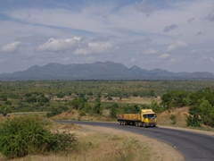 """Photo of the view of our drive through Mozambique's infamous """"Tete Corridor"""" (the gun running section during Mozambique's long standing civil war)"""