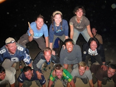 After lots of alcohol we decided it would be a good idea to do a 12 man Pyramid