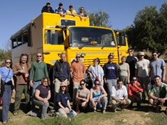 Our 7 Nov 2010 Oasis Trans Africa group (from L to R) First row: Norma, Katherine, Kendra, Bree, Mike, Sara, Chris. Back row: Mel, Sean, Matt, Frans, Luke, Ruth, Becky, Pam, Craig, Lars, Craig. Truck: Robby, Lucky, George, Marie