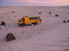 Western Sahara campsite