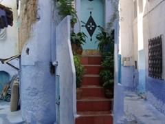 A thin home, Chefchouan's medina