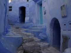 Blue hues of Chefchaouen, a lovely town set in a valley of the Rif Mountains
