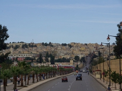 Driving towards the medina of Fes