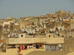 Satellite dishes galore, Fes old medina