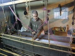 Weaving loom in Fes medina