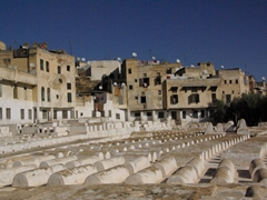 White tombs of the Jewish cemetery; Fes el-Jdid