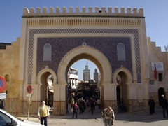 "The ""Porte Bleu"" (Blue Gate) entrance to Fes"