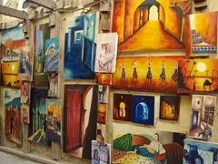 Paintings for sale; Fes medina