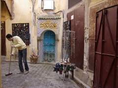 Narrow alley in the Fes medina