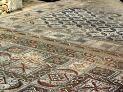 Detail of some of the fabulous mosaics at the Volubilis roman ruins