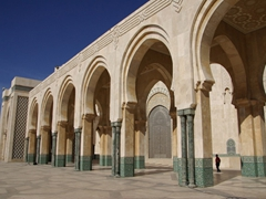 The Hassan II Mosque is capable of holding 25,000 worshippers