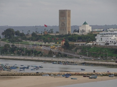 View of Hassan Tower and the mausoleum of Mohammed V; Rabat