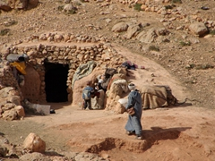Berber mountain dwellings; Todra Gorge