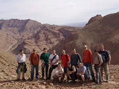 The boys at Todra Gorge (Mike, Luke, Goodie, Chris, Lars, Chris, Lucky, Robby, Dowelly, Mike, Tim and Sean)