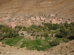 Another view of the berber village; Todra Gorge