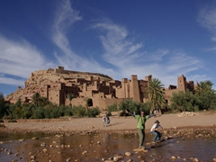 Robby and Luke strike a pose at Ait Benhaddou