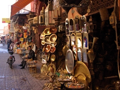 Wandering through the medina of Marrakesh is a delight, with lots of shopping opportunities