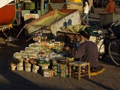 Spice seller; Djamaa El Fna square