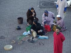 Snake charmers; Djamaa El Fna square