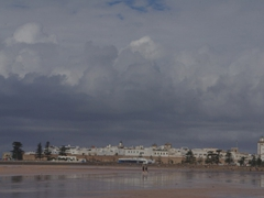 Beach view of Essaouira, a quaint sea side town