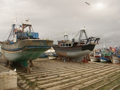 Fishing boat renovations; Essaouira