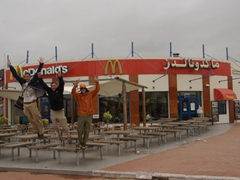 The last McDonald's restaurant before we reach South Africa; Agadir
