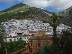 View of Chefchaouen as seen from the kasbah tower