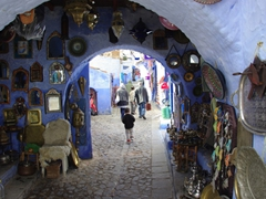 Lots of souvenir opportunities in Chefchaouen